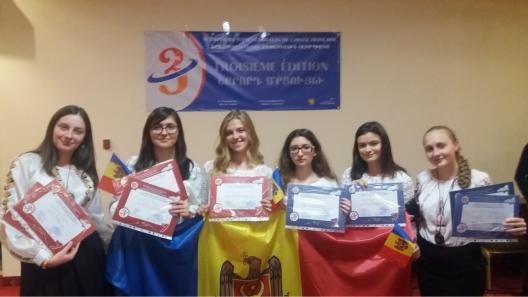 Elevii moldoveni au câștigat o medalie de aur și două de bronz la Olimpiada Internațională la Limba Franceză