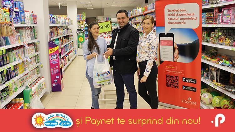 """(foto) Cu """"Paynet"""" cumpărăturile devin mult mai plăcute! Clienții fideli sunt răsplătiți cu multe cadouri"""