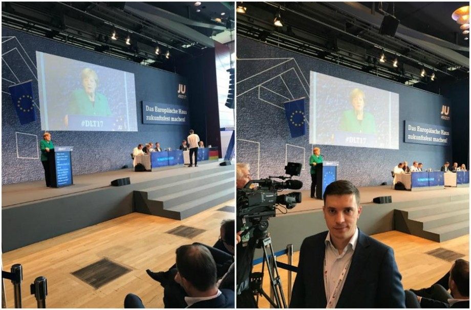 Tinerii din PPEM au fost invitați la Congresul tinerilor partidului condus de Angela Merkel