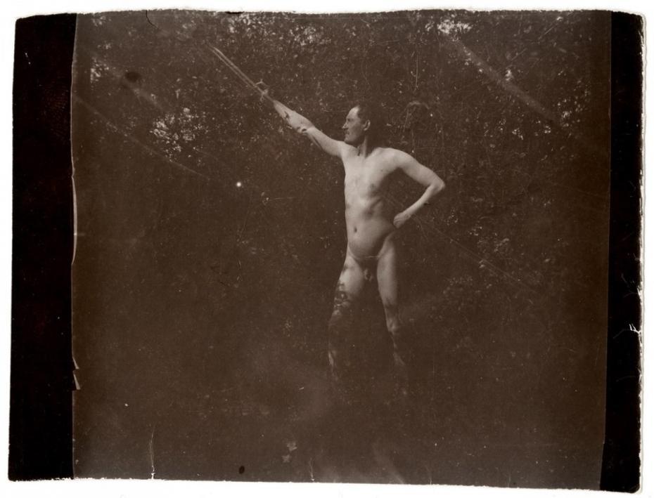 Edvard Munch, pozând nud Munch Museum