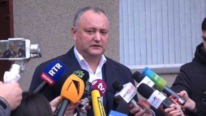 "Președintele Republicii Moldova, Igor Dodon, a votat: ""Mihail Feodorovici, la mulți ani!"""
