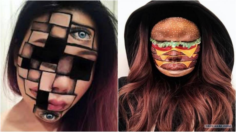 (foto) De la mâncăruri la iluzii. Ce desenează o make-up artistă canadiană pe fețe și mâni