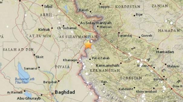 Cutremur cu magnitudinea de 7,3, la graniţa dintre Iran şi Irak. Seismul a durat aproape 2 minute