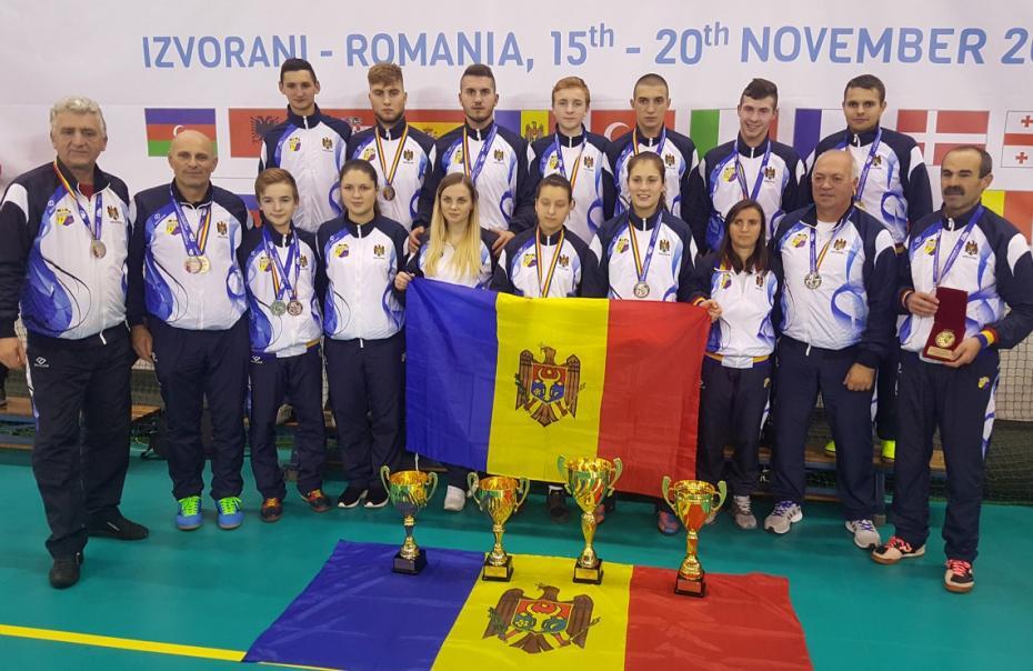 Lotul național al Moldovei s-a clasat pe locul trei la Campionatul European la fotbal-tenis