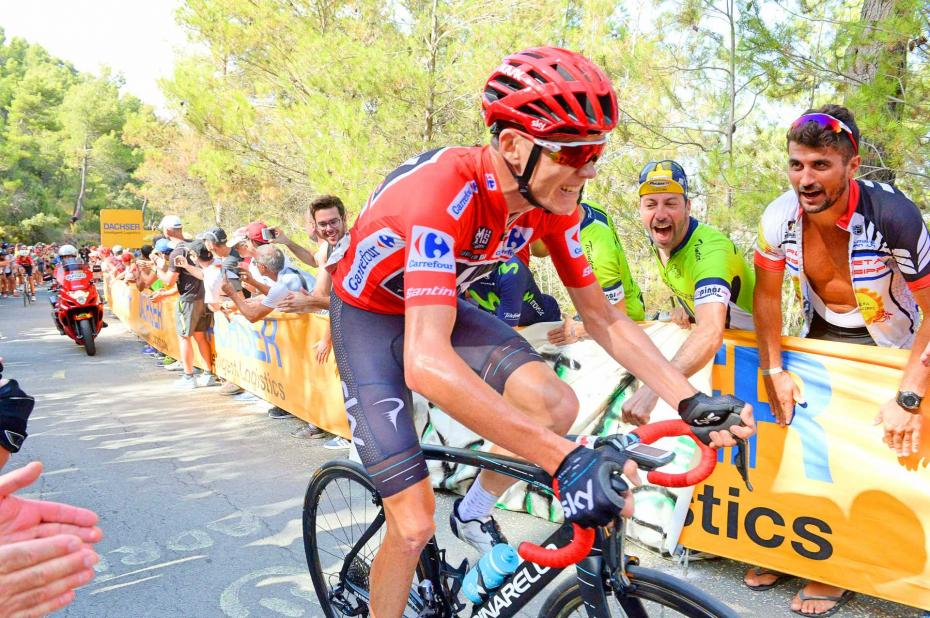 Chris-Froome-Vuelta-a-Espana-2017-Team-Sky-red-jersey-climb-threshold-pic-Sirotti
