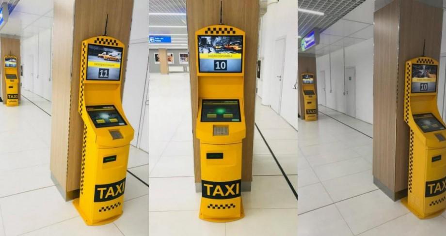 (foto) Businessul taximetriștilor de Aeroport, în pericol? Au fost instalate terminale de comandă electronică de taxi