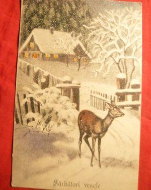 Felicitare de Crăciun din 1915