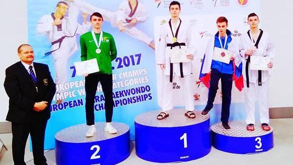 Luptătorul din Moldova, Serghei Uscov, a luat medalia de bronz la Europenele de Taekwondo
