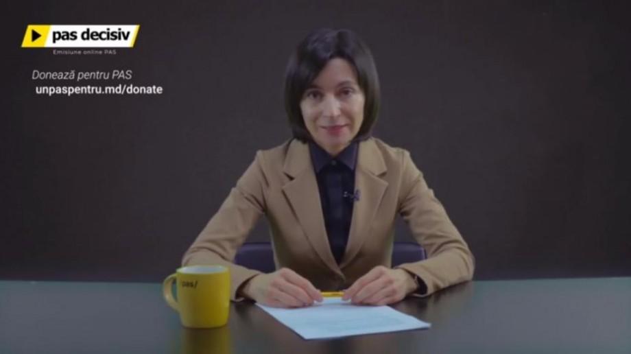 """(video) """"PAS Decisiv"""". Maia Sandu și-a lansat propria emisiune săptămânală pe Facebook"""