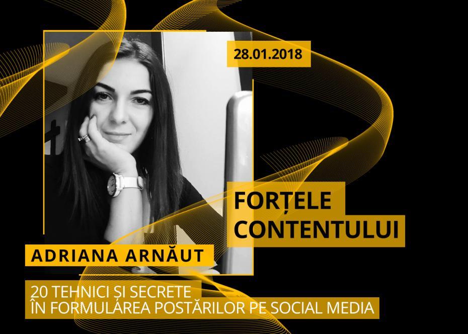 Adriana Arnaut, social media in culise, fortele contentului