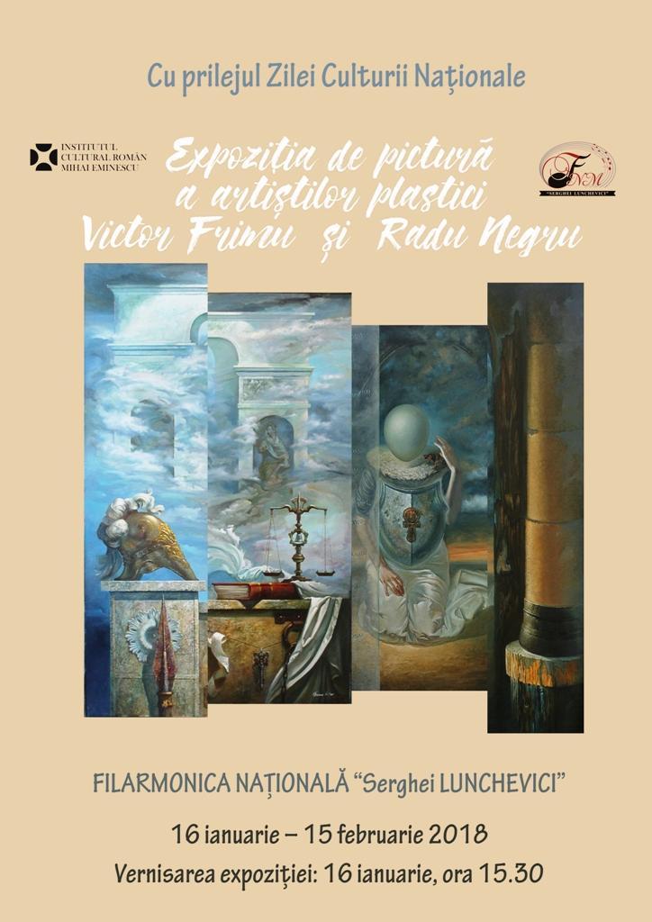 Afis expo Victor Frimu si Radu Negru