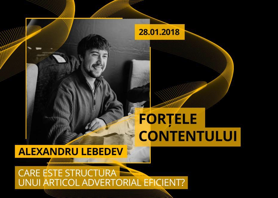 Alexandru Lebedev, social media in culise, fortele contentului