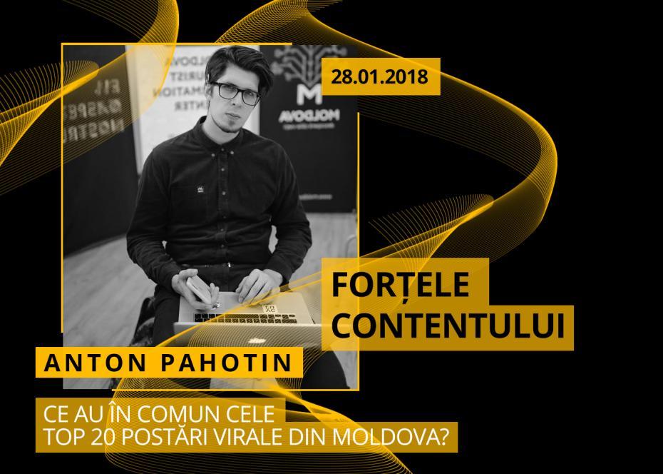 Anton Pahotin, , social media in culise, fortele contentului