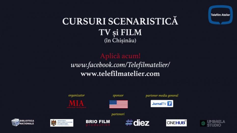 Îți place să scrii? Înscrie-te la un curs gratuit de Scenaristică TV și Film la Chișinău