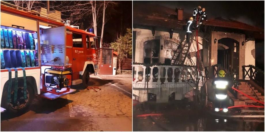 (foto) UPDATE. Un restaurant din Capitală a luat foc. Toate persoanele au fost evacuate