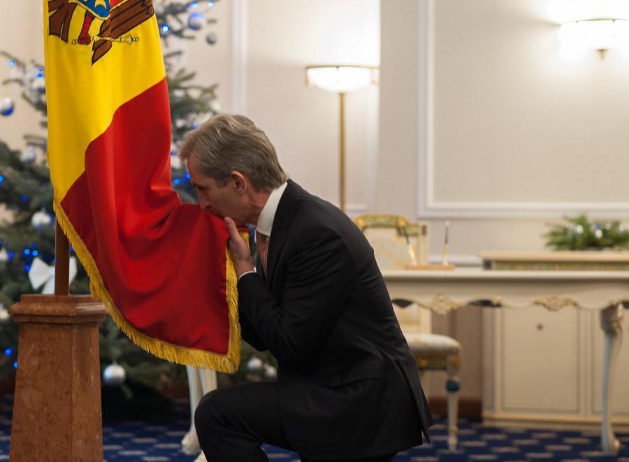 Ex-premierul Republicii Moldova Iurie Leancă (2013-2015), la învestirea în funcția de vicepremier pentru Integrare Europeană, 10 ianuarie 2017. FOTO: Sandu Tarlev