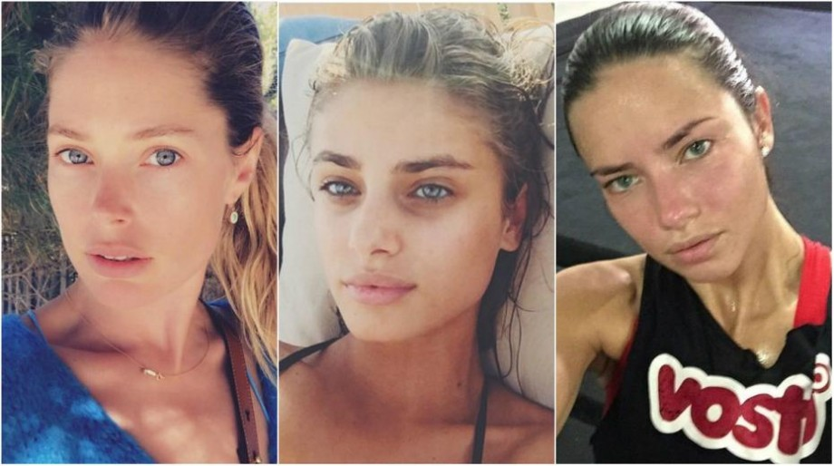 (foto) Cum arată modelele Victoria`s Secret cu și fără machiaj