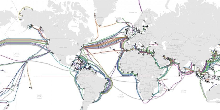 (foto) Harta cablurilor submarine ce menține internetul în viață. De ce serviciile de securitate sunt îngrijorate