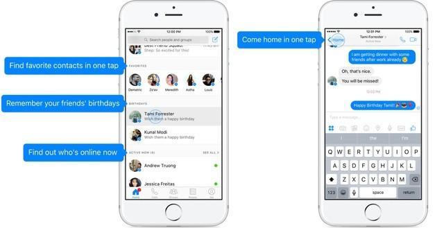 Aplicaţia Facebook Messenger pentru mobil va fi simplificată în acest an