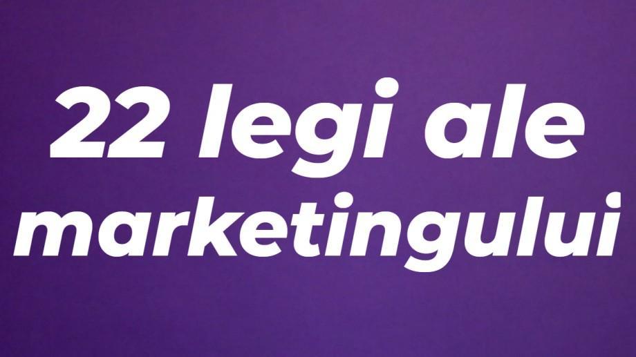 (foto) Academia Rockit: Cele 22 de legi ale marketingului, potrivit lui Jack Trout și Al Ries