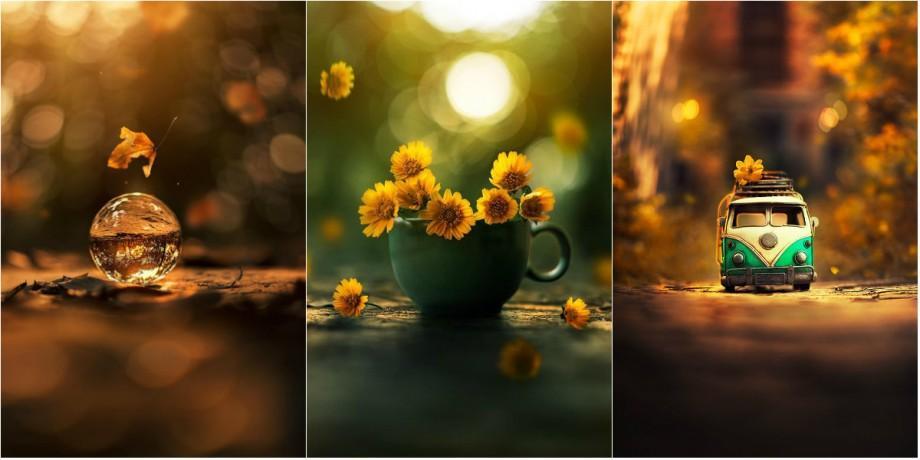 (foto) Un fotograf creează imagini spectaculoase, utilizând obiecte mici. Cum arată această colecție inedită de fotografii