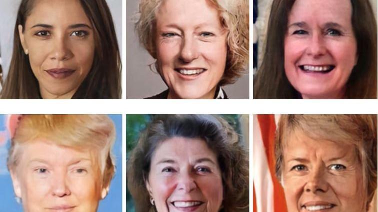 """(foto) Donald Trump seducător/oare, Barack Obama senzual/ă. Cum arată fețele """"feminine"""" ale președinților din SUA schimbate cu aplicația FaceApp"""