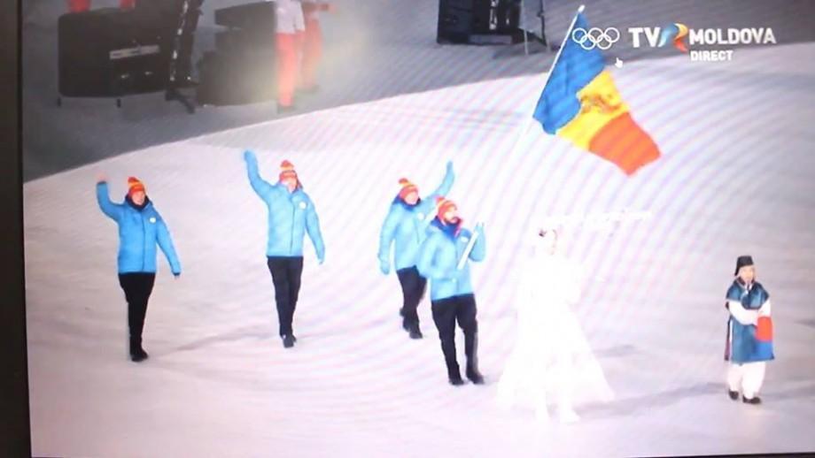 (Video) Cum s-au prezentat sportivii moldoveni la ceremonia de Deschidere a Jocurilor Olimpice de iarnă 2018