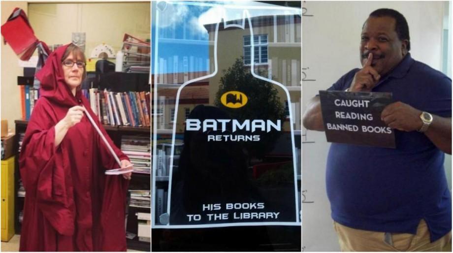 """(foto) """"Nu țin minte titlul, dar coperta era roșie"""". 10 momente când bibliotecarii și-au demonstrat simțul umorului"""