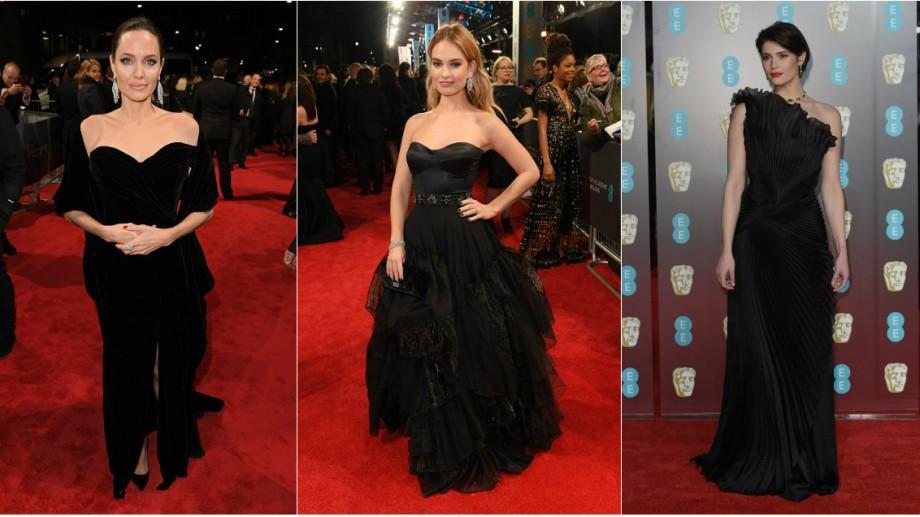 """(foto) """"Time's Up"""". Și de această dată actrițele s-au îmbrăcat în negru. Cum au defilat pe covorul roșu la BAFTA 2018"""