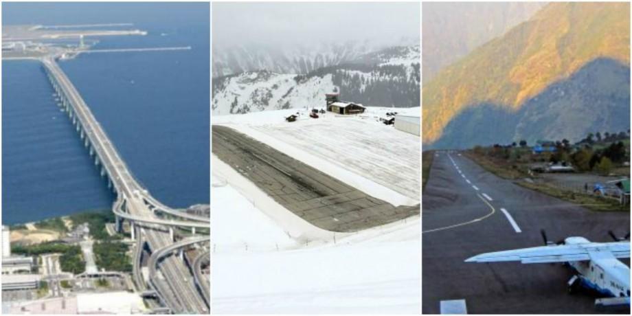 Piste acoperite de zăpadă sau înconjurate de munți. Cum arată cele mai înfricoșătoare și ciudate aeroporturi