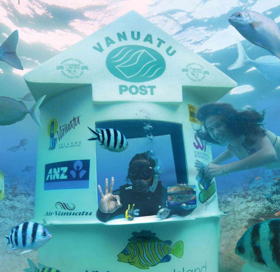 vanuatu post office services of we have the worlds first underwater located mins away from at hideaway island resort marine reserve  underwater