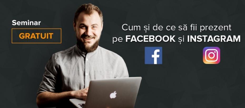 Seminar gratuit. Află cum și de ce să fii prezent pe Facebook și Instagram de la Dumitru Talmazan