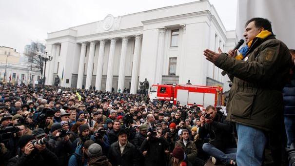 Proteste la Kiev. Susținătorii lui Mihail Saakașvili cer demisia președintelui Ucrainei, Petro Poroșenko