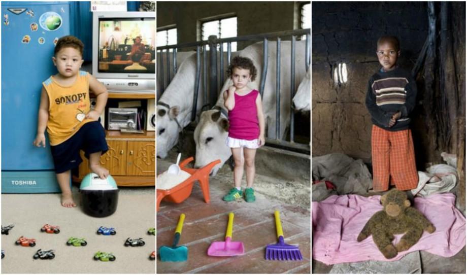 """(foto) """"Toy stories"""". Un artist italian a fotografiat cele mai prețioase jucării ale copiilor din întreaga lume"""