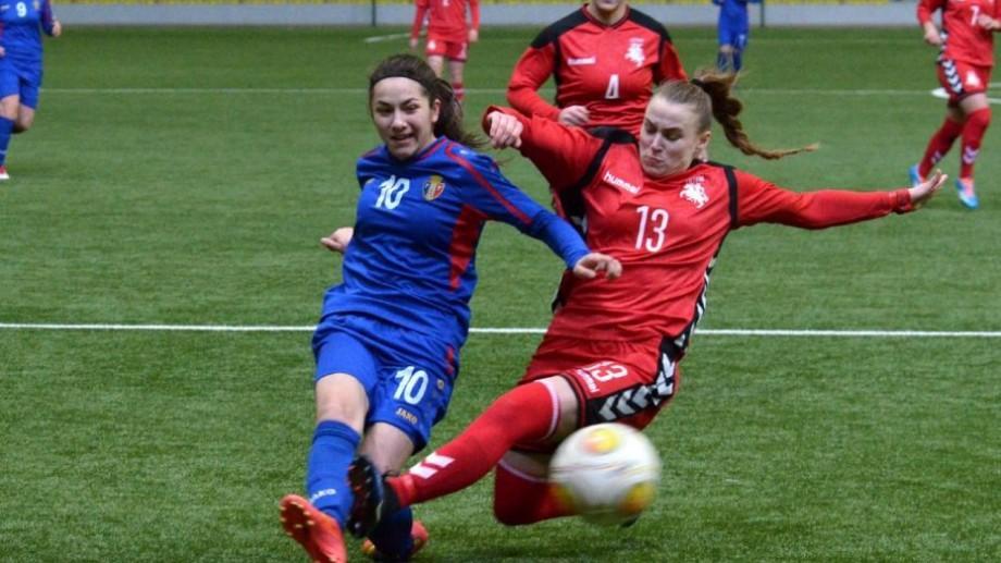 (foto, video) Selecționata feminină de fotbal a Moldovei a învins naționala Lituaniei cu scorul 3-1