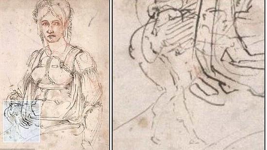 (foto) Michelangelo a ascuns o caricatură cu el în unul dintre faimoasele desene ale sale