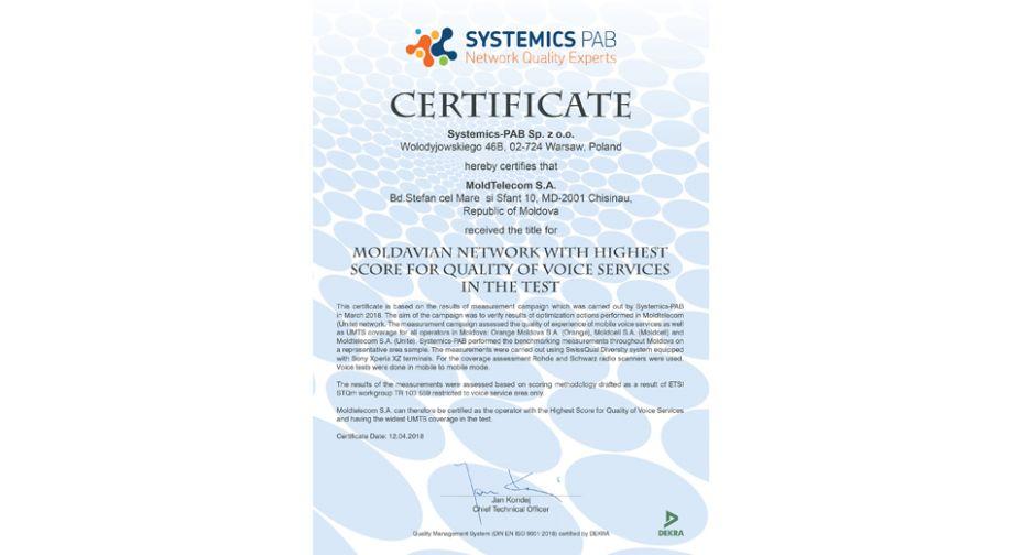 Certificat MTC