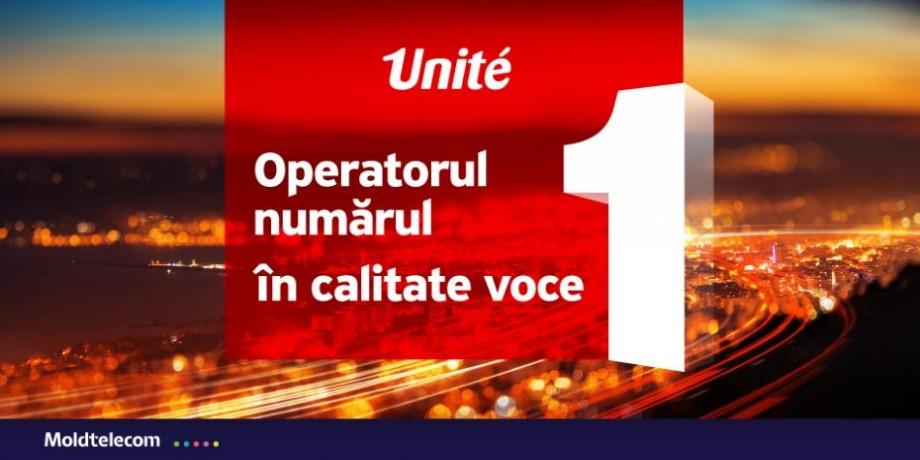 Operatorul numărul 1 în calitate voce. Unite a primit certificarea de operator cu cea mai înaltă calitate voce din ţară