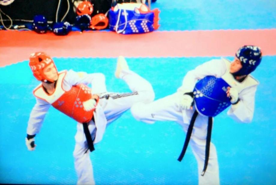 (foto) O nouă victorie pentru Moldova la taekwondo. Pe cine a câștigat Serghei Uscov în finală