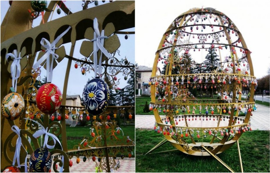 (foto) Făleștiul se fălește cu ouă de Paști. Cum arată decorațiunile pascale din regiune
