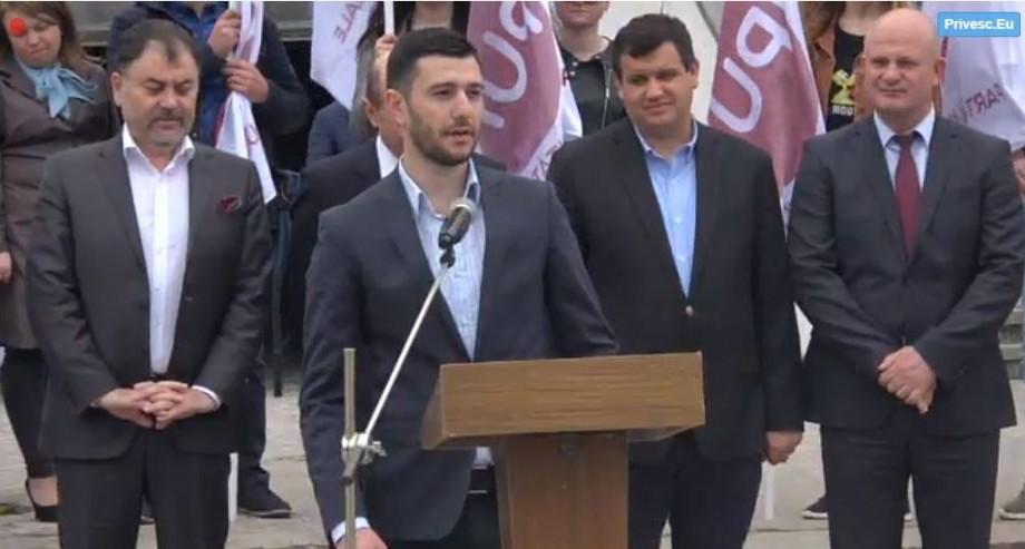 """""""Vom crea peste 25 de mii de locuri de muncă"""". PUN l-a înaintat pe Sergiu Burlacu la funcția de primar al municipiul Bălți"""