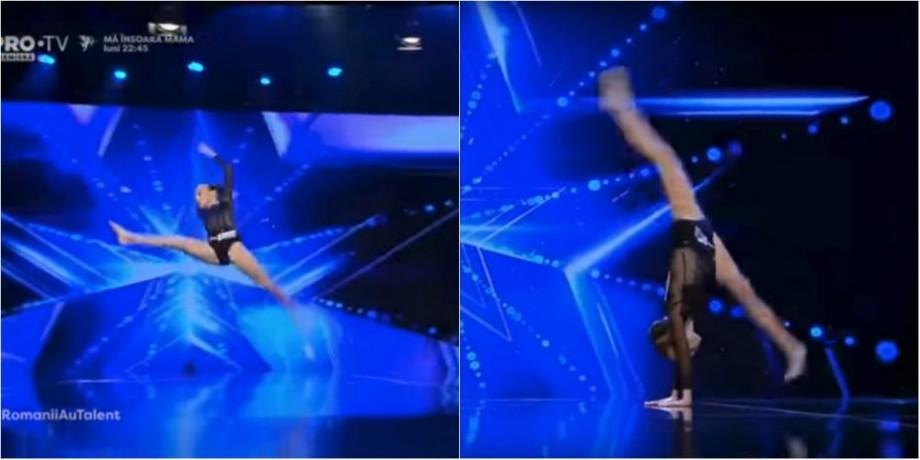 (video) Juriu lăsat fără cuvinte. O elevă de 12 ani din Chișinău a prezentat un dans acrobatic la Românii au Talent 2018