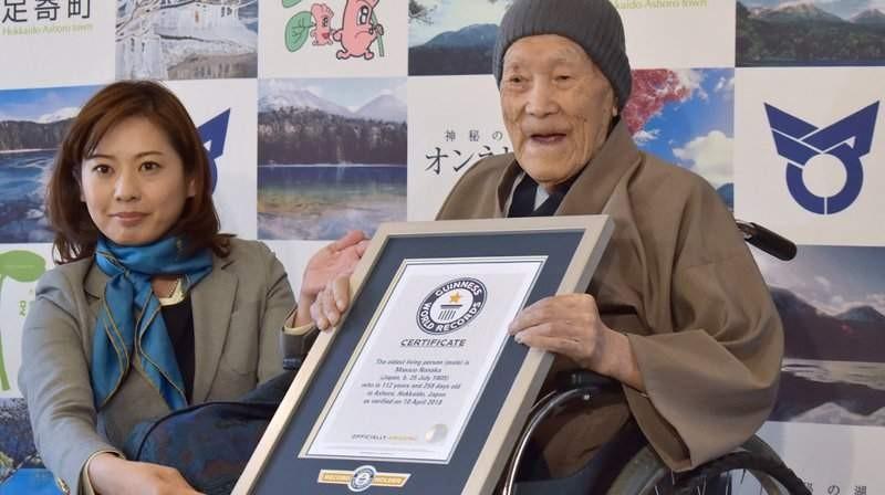 Masazo Nonaka, un japonez în vârstă de 112 ani, este cel mai tânăr în etate bărbat din lume