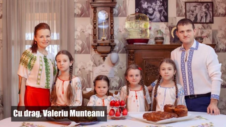 (video) Cum sărbătorește familia lui Valeriu Munteanu Sfintele Sărbători de Paști. Felicitarea vicepreședintelui PL