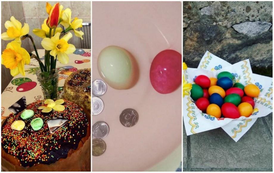 (foto) Ouă roșii și monede. Ce tradiții au respectat cu sfințenie internauții din Moldova în această dimineață