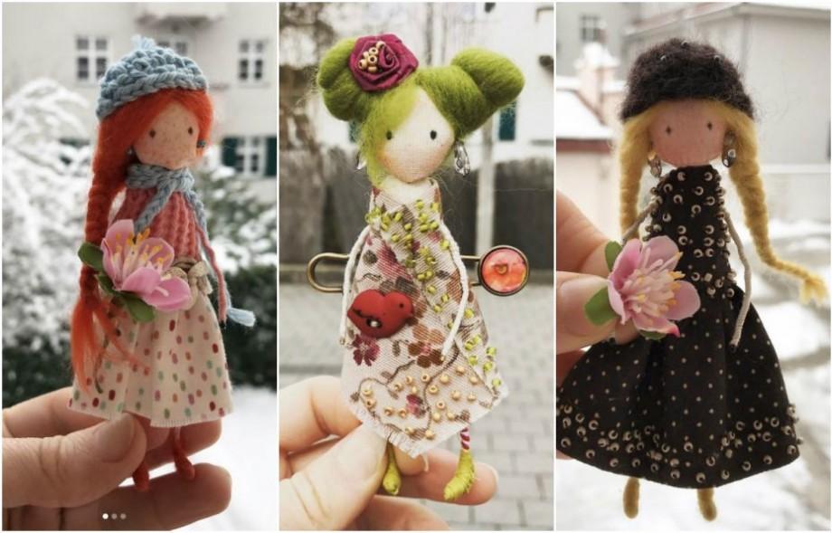 (foto) My tiny handmade dolls. O tânără din Moldova confecționează păpuși de buzunar care seamănă cu proprietarii lor