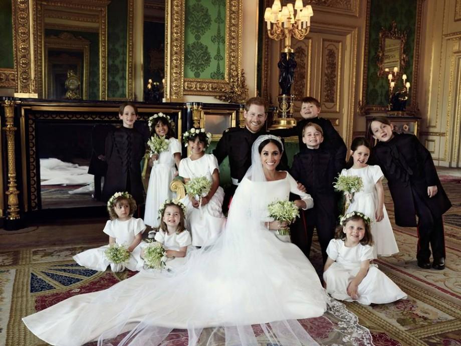 (foto) Emoții, dragoste și zâmbete sincere. Casa Regală a publicat cele trei portrete oficiale de la nunta prințului Harry și a lui Meghan Markle