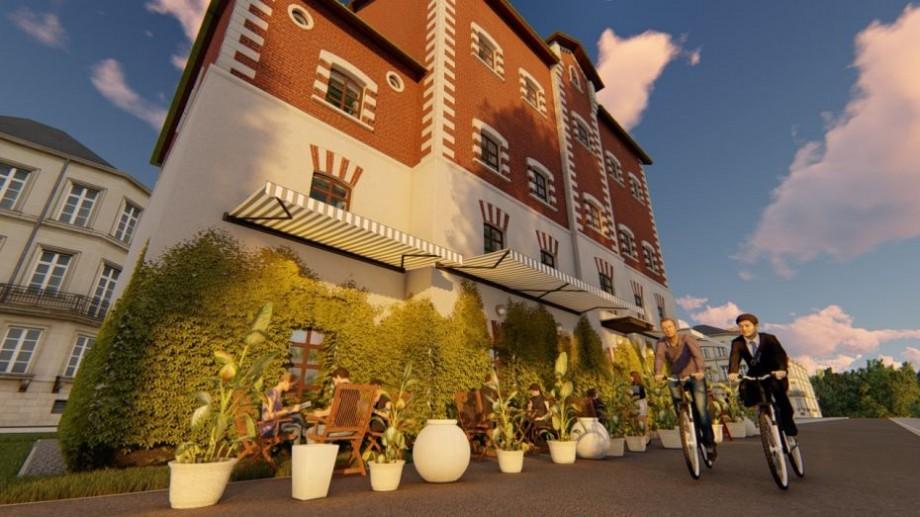 (foto) O cafea la Moara Roșie? Cum ar putea fi restaurată clădirea istorică după proiectul a doi studenți de la UTM