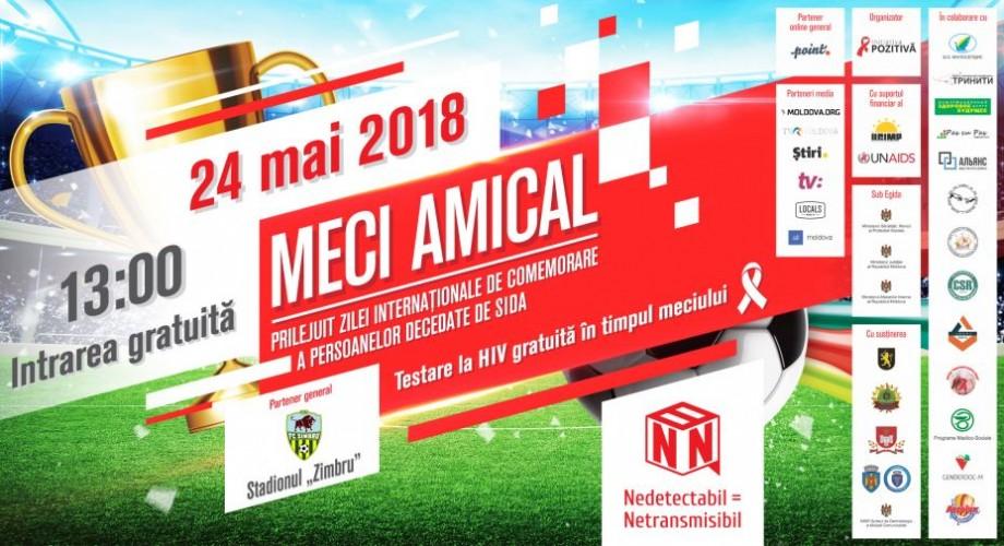 Participă la un meci amical consacrat Zilei Internaționale de comemorare a persoanelor decedate de SIDA