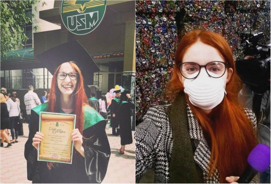 Reportera #diez, Elena Baranov, este șefa de promoție a jurnaliștilor de la USM care absolvesc în 2018